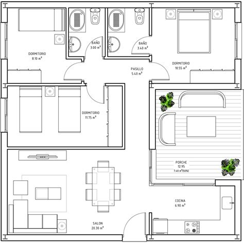 80 Square Meter House Plan | 80 sqm house plan house design plans