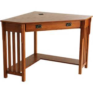 mission oak corner desk oak walmart