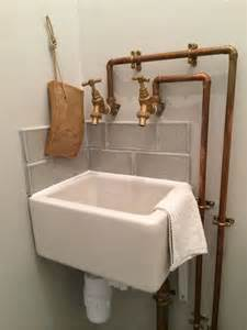 belfast bathroom sink copper piping and baby belfast sink in cloakroom maybe a