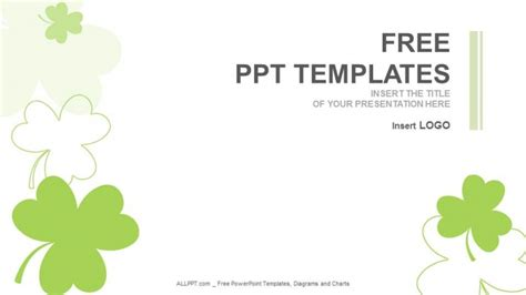 templates ppt nature clover nature powerpoint templates