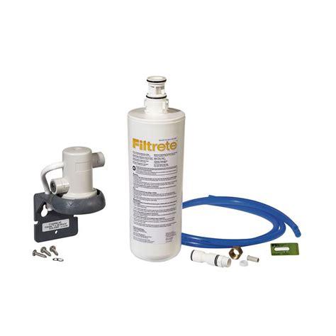 under sink filtration filtrete standard quick change under sink filter system