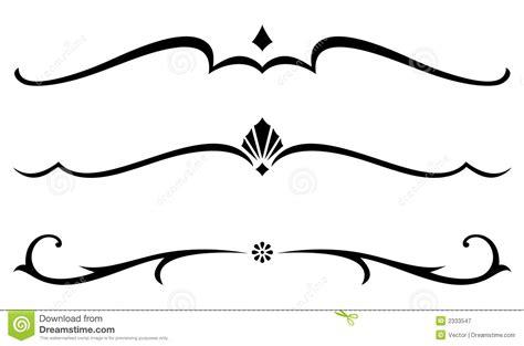 decorative line scroll scroll clipart decorative accent pencil and in color