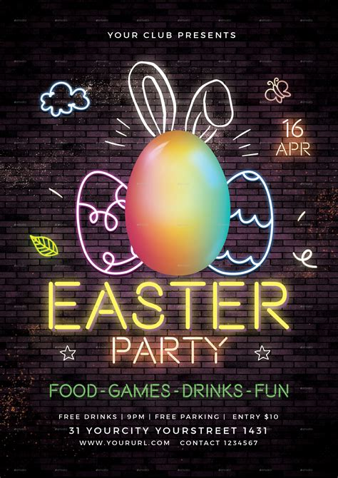 easter party flyer  infinite graphicriver