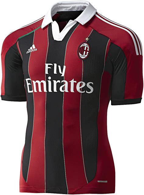 Jersey Bola Ac Milan Home New 1718 Grade Kode Df8230 jersey ac milan new season 2012 2013 exella