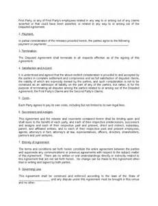 Debt Agreement Sle by Settlement Agreement Template Hashdoc