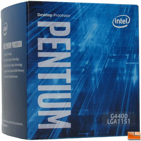 Processor Intel G4400 Box intel pentium g4400 processor review budget skylake