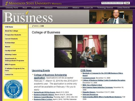 Minnesota State Mankato Mba Tuition by Minnesota State Mankato College Of Business