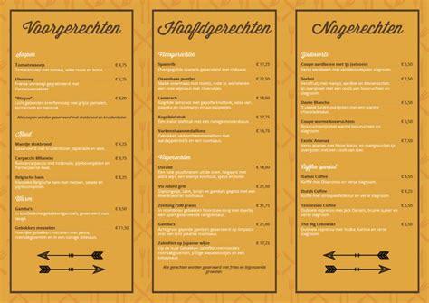 menu kaart layout menukaart vintage hor 233 cards menukaart web design
