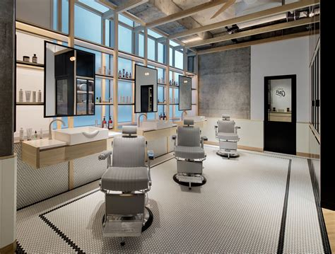 clean cut minimalism and tradition at akin barber shop