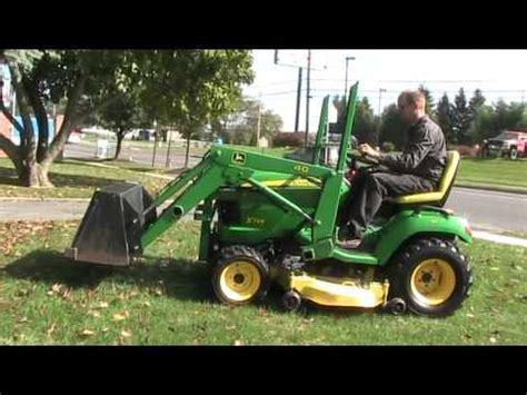 test drive john deere x748 tractor 40 loader youtube