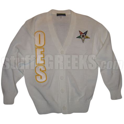 Cs R Sweater oes cardigan with letters and fatal white
