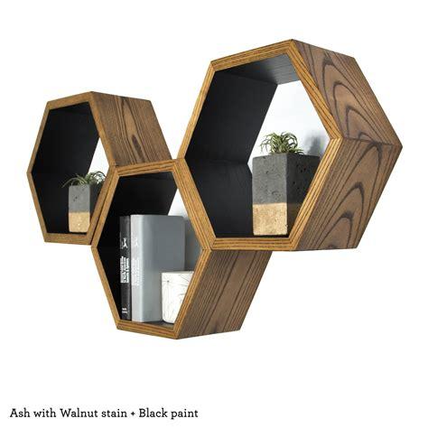 honeycomb shelves book shelf modern wall shelves geometric