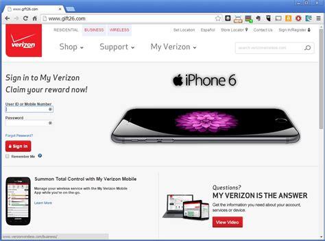 Verizon Wireless Lookup Verizon Wireless Gift26 Phishing Scam