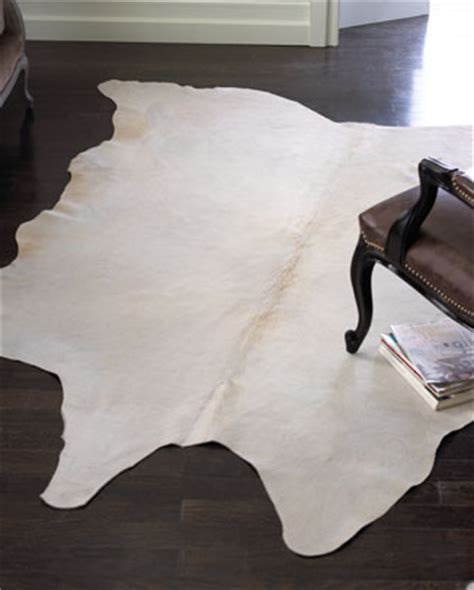 white cowhide rug neiman white cowhide rug look 4 less