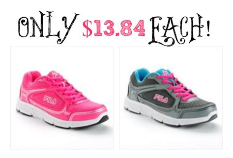 kohls womens athletic shoes kohls s fila running shoes only 13 84 each