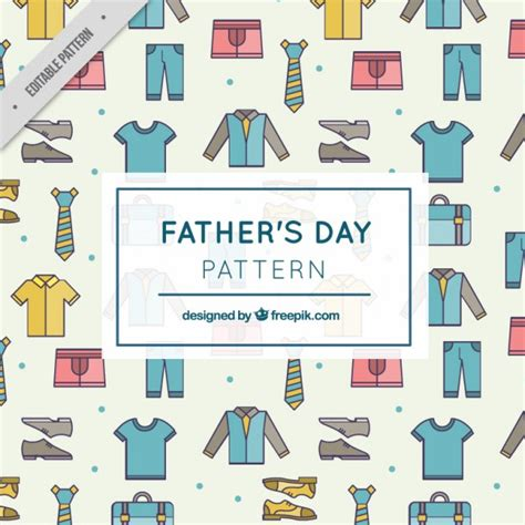clothes pattern vector father clothes pattern vector free download