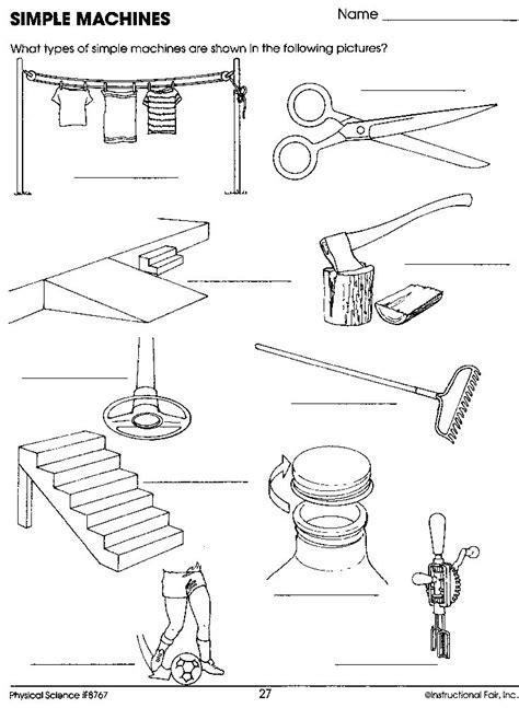 Simple Machine Worksheet by Simple Machines Worksheet Science Simple Machines