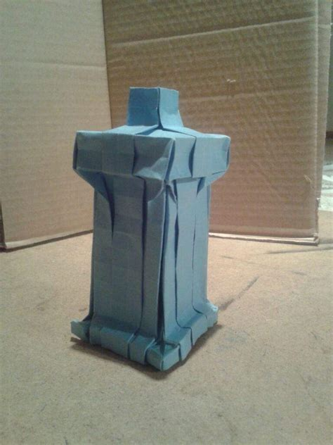 Origami Tardis - origami who doctor who amino