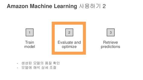 amazon machine learning amazon machine learning 게임에서 활용해보기 김일호 aws summit