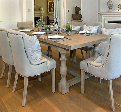 Dining Table by Montague Large Weathered Oak Rectangular Dining Table La