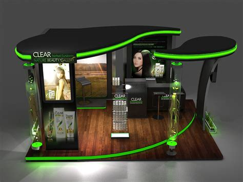 booth design indonesia clear booth design on behance