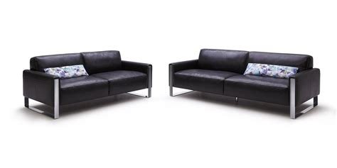 black leather modern sofa iris modern black leather sofa set