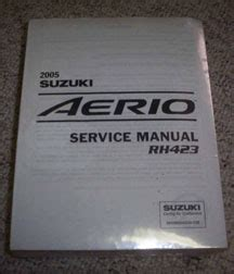 Suzuki Aerio Service Manual Display Products