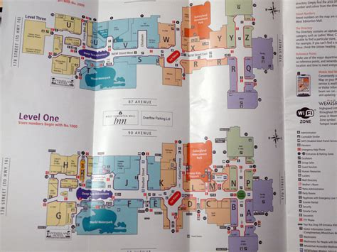 Layout West Edmonton Mall | west edmonton mall directory only in canada eh pinterest