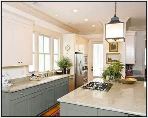 Different Ways To Paint Kitchen Cabinets by Painted Kitchen Cabinets Two Different Colors Sets