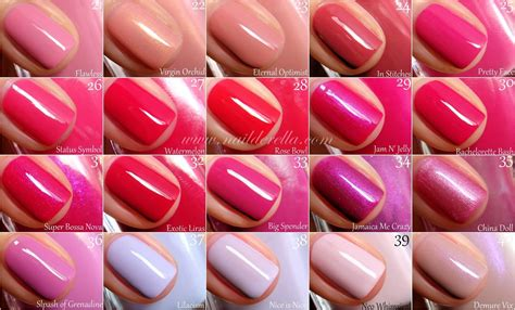 essie colors essie color guide 1 100 nailderella