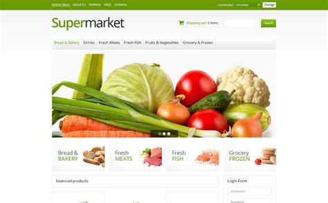 layout supermarket ppt online supermarket virtuemart template 45942