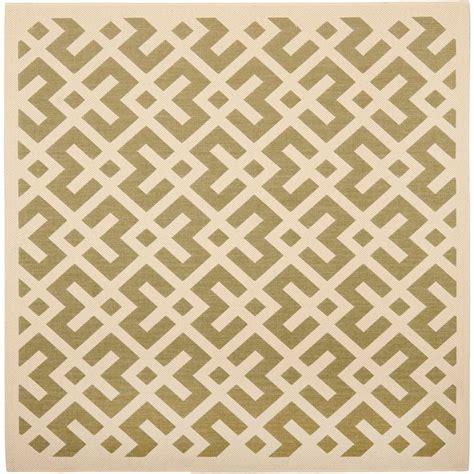 3 x 5 indoor outdoor rugs safavieh courtyard green bone 5 ft 3 in x 5 ft 3 in indoor outdoor square area rug cy6915