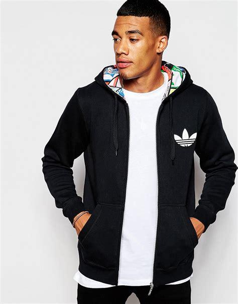 Jaket Typich Hodie Original adidas originals mens hoodie label print lining ab7690 zipper jacket adidas mens original adidas