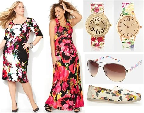 Plus Size Floral Dresses Spring Summer 2015