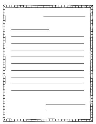 letter writing templates letter writing template