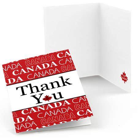 Walmart Thank You Cards Canada canada day canadian thank you cards 8 count