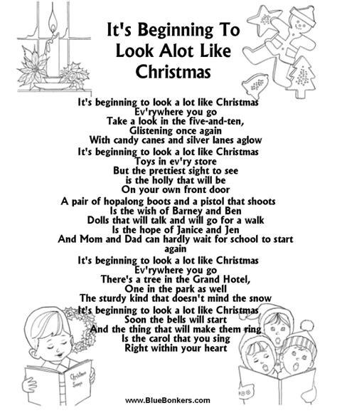 printable lyrics white christmas bluebonkers it s beginning to look a lot like christmas