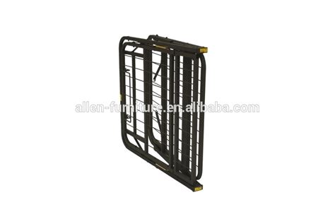 Metal Bed Frame Risers Adjustable Heavy Duty Metal Bed Frame Metal Folding Guest Bed Adjustable Platform Riser Bed