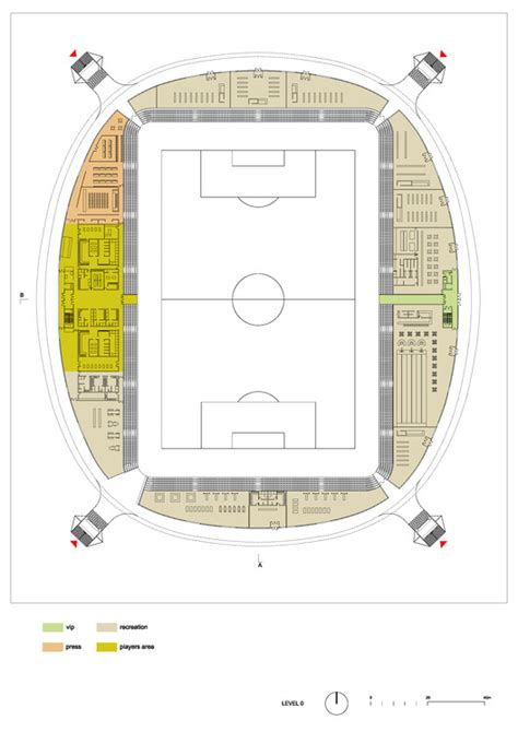 stadium floor plans football stadium arena borisov ofis architects archdaily