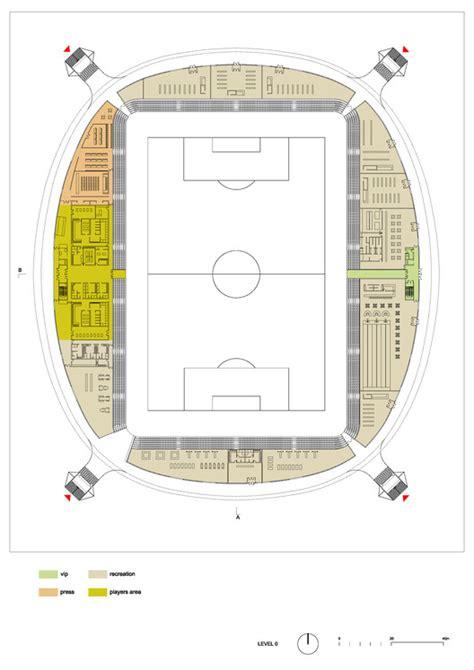 stadium floor plan football stadium arena borisov ofis architects archdaily