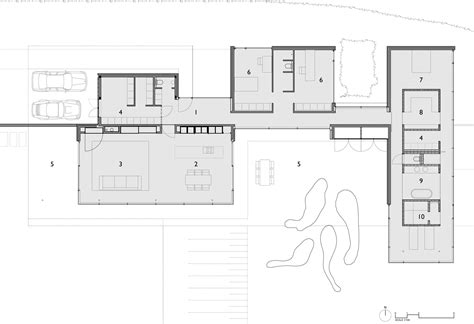 floor plan of a modern house house faes by hvh architecten keribrownhomes