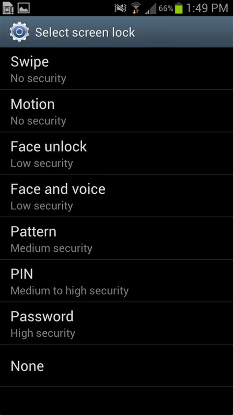 forgot unlock pattern on android how to set lock screen and security options on galaxy s3