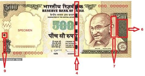 3 ways to identify new rs 500 and 10 ways to distinguish a 500 rupee note