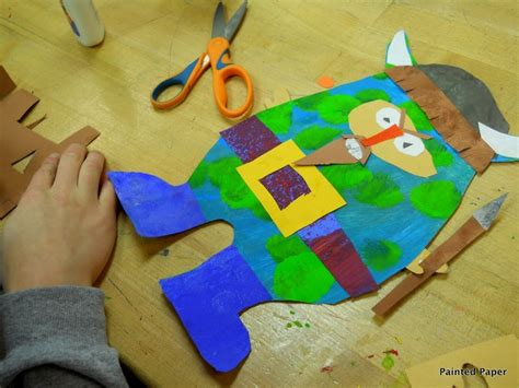 viking crafts for painted paper viking project school