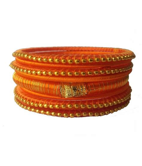 Handmade Bangles - kuhuk mix and match silk thread handmade bangles set buy