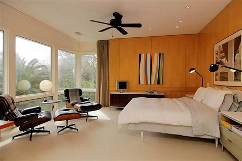 mid century modern bedroom mid century bed bedroom contemporary with brass wall