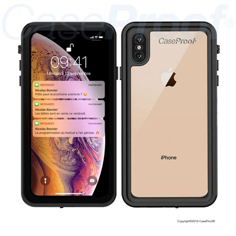 waterproof shockproof case  iphone xs max  optimal protection