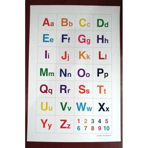 Abc Buku poster anak belajar mengenal huruf alphabet kapital kecil