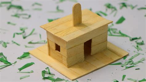How To Make Popsicle Stick Dog House Wooden Dog House At Home Youtube