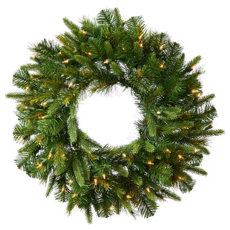 48 inch pe pvc cashmere pine wreath clear leds a118348led